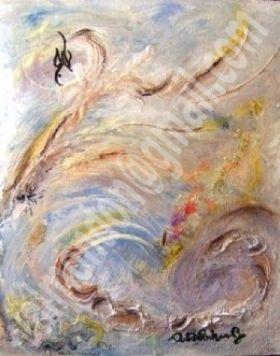 collage et peinture acrylique